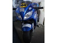 blue 49cc midi moto motorbike kids teenagers adults