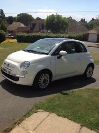 Fiat 500 Lounge. 1.2 petrol. 2012 excellent condition.