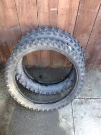 Motor cross tyres front & rear