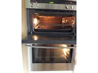 Neff stainless double oven and grill in spotless condition.