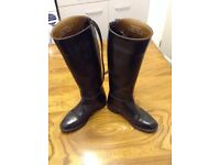 Ladies girls black riding boots 37.5 LOVESON