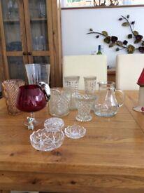 Job lot of glassware