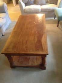 Large Hardwood Coffee Table