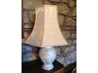 Table Lamps with shades - pair.
