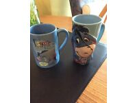 COLLECTABLE - TWO - Walt Disney LARGE BEAKERS EEORE - COLOUR BLUE