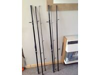 Pair of carp rods , kingfisher 2 , 12 ft / 3.6m 3 piece