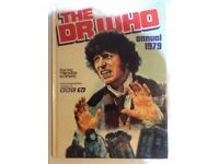 """Vintage Dr Who Annual 1979: Tom Baker as Dr Who; Hardcover """"authorised edition as seen on BBC tv"""""""