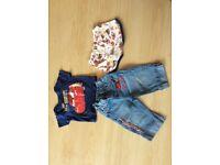 Boys Lightning McQueen Clothing - T-shirt, jeans & pants 6-9 months