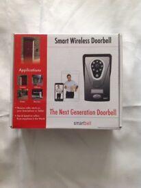 Smart wireless doorbell, receive caller alerts on your smartphone or tablet