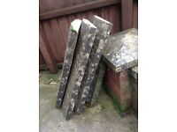 Coping Slabs/Stones x 3 1/2. FREE to collect