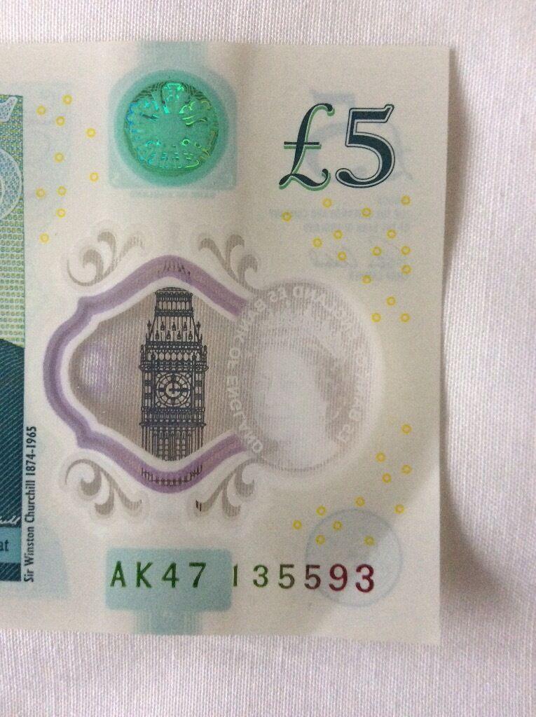New £5 Note AK47 series