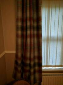 Next rosy check thermal curtains.