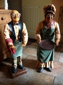 Cook and Waiter Figures.