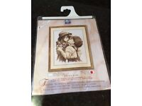 VERVACO CROSS STITCH KIT – FIRST KISS OF LOVE