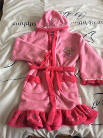 Girls Disney princess dressing gown age 6 to 7