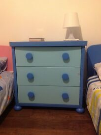 IKEA MAMMUT BLUE CHEST DRAWERS