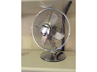 Chrome plated desk fan