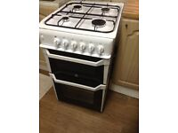 Indesit ITL50GW Gas Cooker with Gas Grill - White