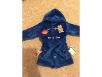 New without tags Paddington bear dressing gown 9-12 months