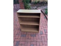 Used oak effect bookcase