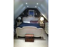 French style Silver beautiful Double Bed