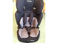 CHILDS CAR SEAT, STAGES 1, 2 & 3. 3 WEEKS OLD AND LITTLE USED FOR HOLIDAY, ABSOLUTELY UNMARKED.