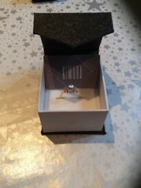 KIMURA PEARL WITH DIAMONDS DRESS RING 9CT GOLD BAND