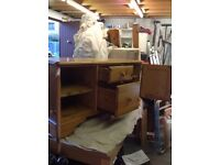 Solid Pine Durcal drawer and cupboard unit