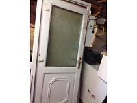 PVC door with sidescreen white