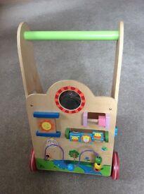 Wooden activity walker
