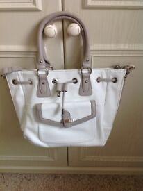 White Clarks leather handbag