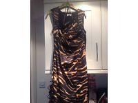Karen millen dress and matching bag. Size 12-14.£50