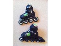 """High quality ROLLERBLADE Kids Inline Skates """"Alpha"""" - adjustable UK size 10-13"""