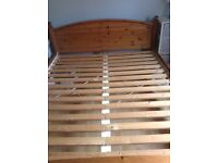 IKEA Kingsize wooden bed frame
