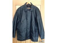 Mens Soft Leather Coat