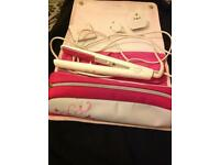 ghd IV Pink Limited Edition Hair Straightener with Pink Pouch and Compact Mirror, and black ghds