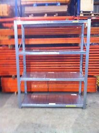 METAL SISTEM 4 TIER WAREHOUSE GARAGE SHED SHOP SINGLE BAY RACKING SHELVING UNIT