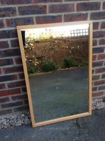 Beech framed mirror