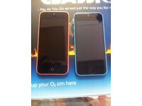 iphone 5C pink or blue or white vodafone, EE or 02 network excellent condition