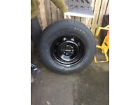 Brand New Tyre, and Steel rim to fit Fiat Ducato Motorhome, purchased as spare but never used