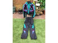 Ladies Motorbike suit in attractive colours GORTEX MATERIAL