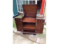 Antique desk bar