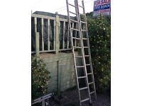13 rung double metal ladders