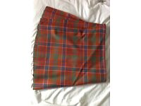 Man's kilt ancient hunting Macrae tartan