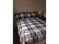 Ikea Double Bed Frame, Slats & Mattress