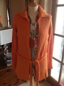 ZARA Size Euro L Orange Knitted Jacket