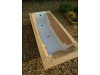 Brand new white acrylic bath