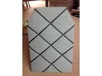 Home Notice Board Soft Material Green & White