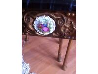 french Antiques three small tables mable effect