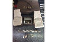 Gucci necklace and bracelet